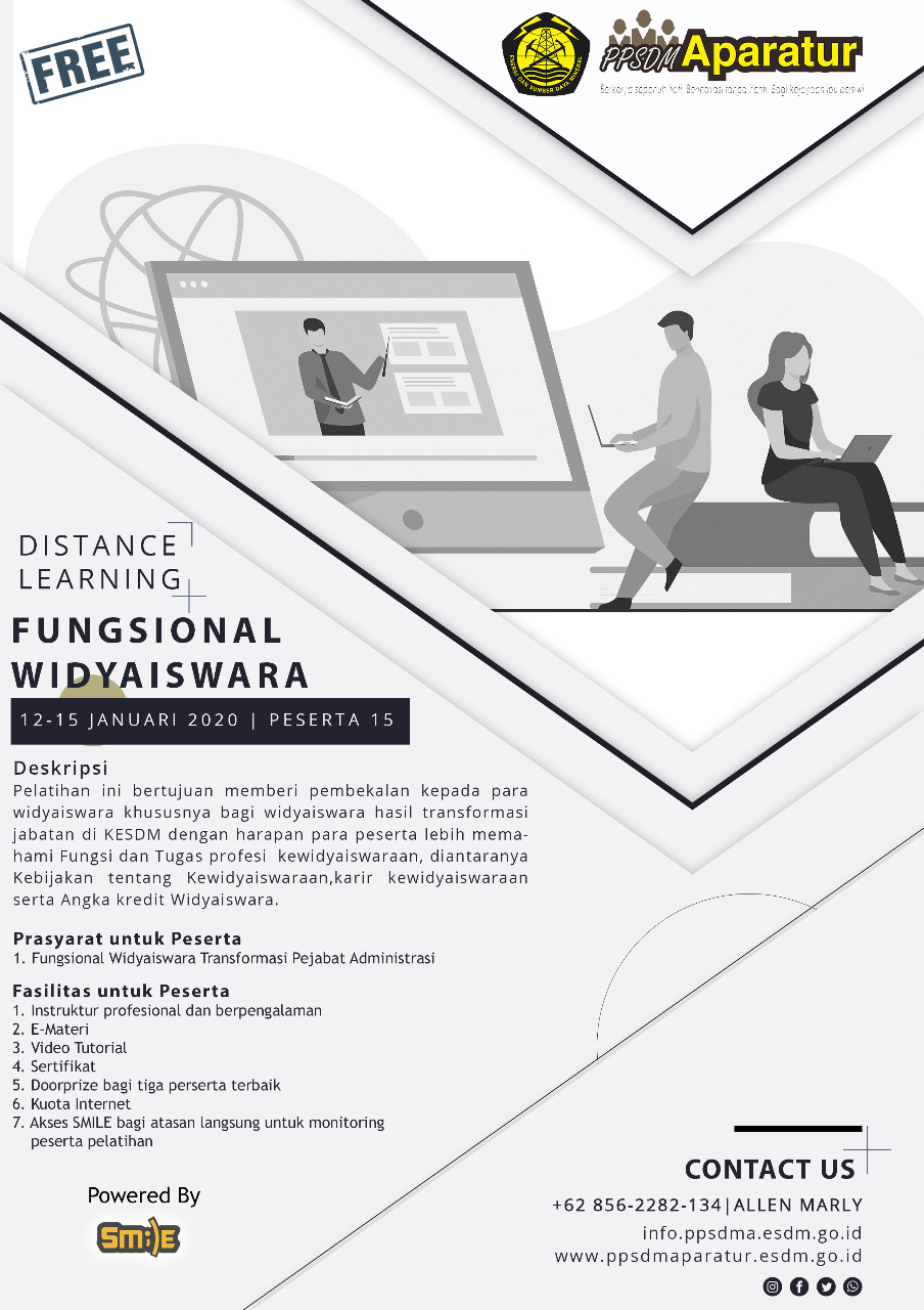 Distance Learning : Fungsional Widyaiswara