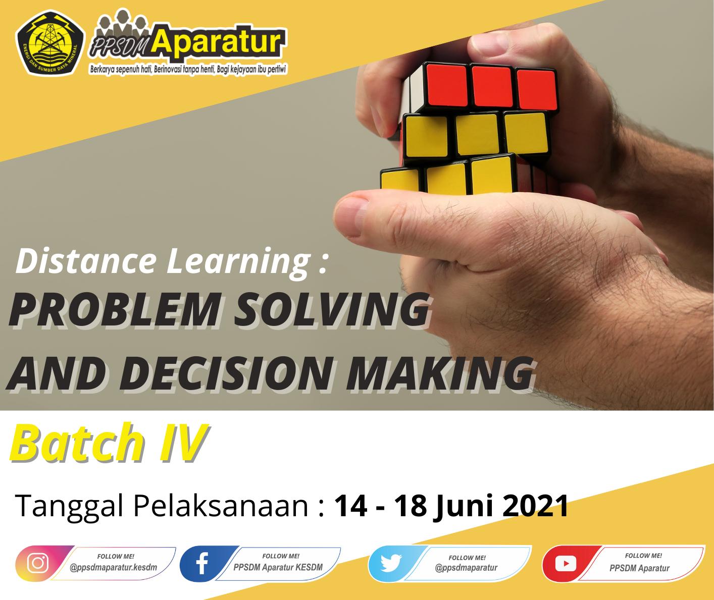 DL : Problem Solving and Decision Making Batch IV