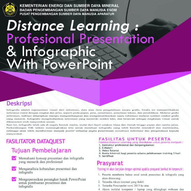 Distancing Learning : Professional Presentation & Infographic with PowerPoint